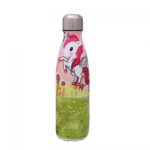 Gourde inox licorne isotherme 500 ml