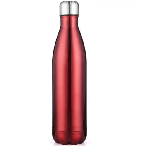 Gourde inox isotherme sans BPA Rouge