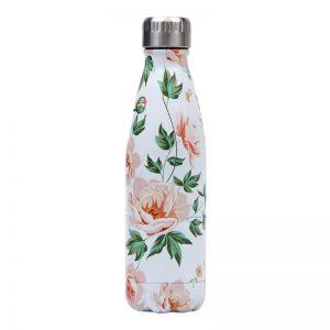 Gourde inox isotherme sans BPA réutilisable (Florale Rose)