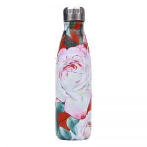 Gourde inox isotherme sans BPA réutilisable (Rose Florale 500 ml)