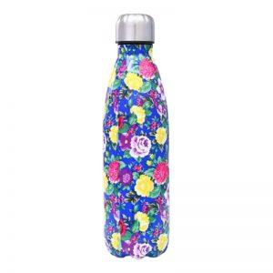 Gourde inox isotherme sans BPA réutilisable (Fleuris 500 ml)