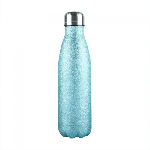 Gourde inox isotherme Uni Paillette 500 ml Bleu