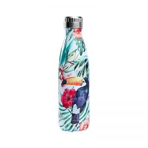Gourde inox isotherme Toucan Feuillage 500 ml Multicolore
