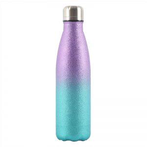 Gourde inox isotherme paillette 500 ml Bleu Violet