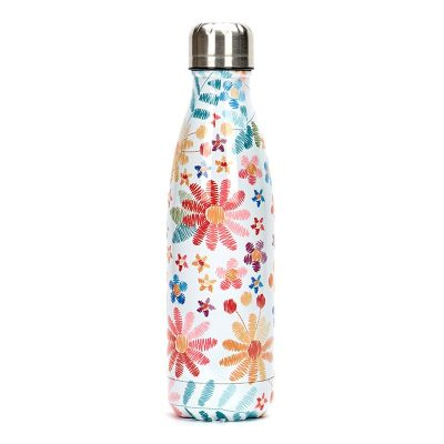 Gourde inox isotherme florale 500 ml multicolore