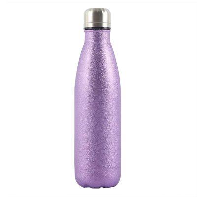Gourde inox isotherme Uni Paillette 500 ml Violet