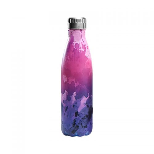 Gourde inox isotherme Abstrait 500 ml Rose Violet