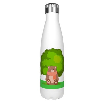 Gourde inox isotherme Ours Brun Arbre 500 ml